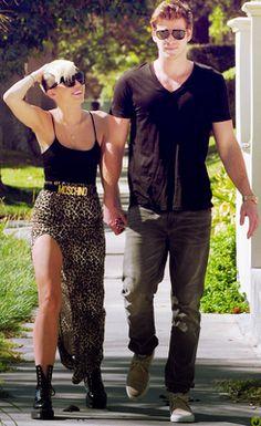 #Miley #Cyrus leopard maxi skirt