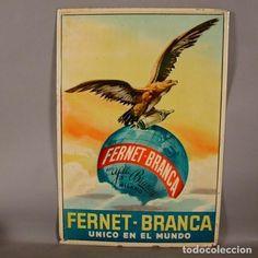 Muy rara. Chapa original litografíada de Fernet Branca - Unico en el mundo. Espana 1900 - 1910 - Foto 1