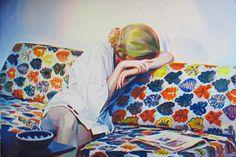 Exposition monographique MAGENTA - Nina CHILDRESS - 06.02 > 31.05.2015 - Carton d'invitation - Crying2, 2014 - Courtesy Artiste et Galerie Bernard Jordan, Paris