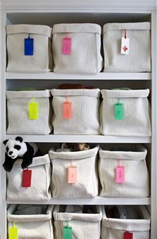 While Classics (SJ) love labels, this idea for hanging labels works for all types cohabiting. The likelihood of categories staying that way is higher if there are labels.