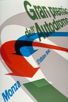 Max Huber (1948) by Max Huber for the Italian motor-racing event (Expression of Speed)