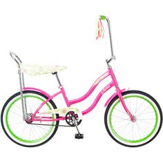 "Look what's back in style! Only we called them banana seat bikes. Schwinn 20"" Girls' Schwinn Spirit Bike"