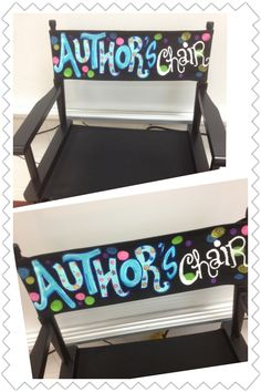 I painted this chair for a second grade classroom