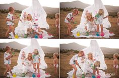 Family Paint Splatter Session with the Howarter Kids. Best family photo shoot ever! Child Photography   Siblings   Fun Prop Ideas   Art   Painting