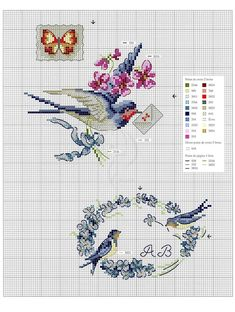 Мобильный LiveInternet Oiseaux, papillons et petites betes au point de croix Tiny Cross Stitch, Cross Stitch Books, Cross Stitch Borders, Cross Stitch Alphabet, Cross Stitch Animals, Cross Stitch Flowers, Cross Stitch Designs, Cross Stitching, Cross Stitch Embroidery