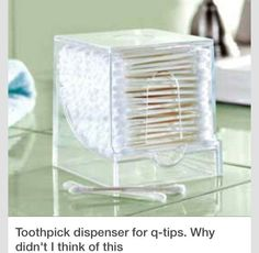 Great way to q-tips