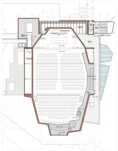 Nuevo Oratorio y Salón de actos Colegio Retamar de Madrid,Planta nivel 1