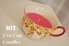 Day 5: DIY Tea Cup Candles
