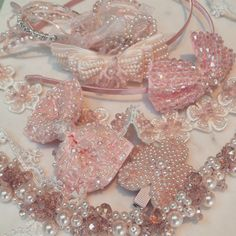 In the Pink - new 2015/16 collectionSienna Likes to Party Accessories for Little Girls #pink #hairclips #hairaccessories #princess #kidsfashion #flowergirl #partywear #weddinghair