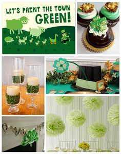 St. Pat's ideas.  Great visual ideas for many different holidays/occasions on this blog.