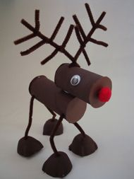 Posable Reindeer - challenging - - Pinned by @PediaStaff – Please visit http://ht.ly/63sNt for all (hundreds of) our pediatric therapy pins