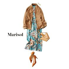 良縁に恵まれる雨水の日には花柄ワンピでお雛様を飾りつつ春を待つ【2018/2/19コーデ】|Marisol ONLINE|女っぷり上々!40代をもっとキレイに。