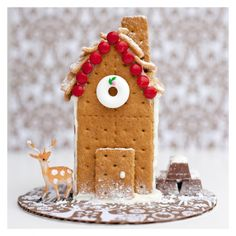 - gingerbread house made from graham crackers! So cute!!