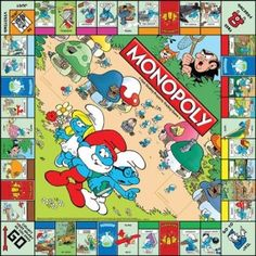 Smurfs Monopoly Board Game