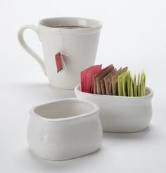 Porcelain Sugar Packet Holders: The perfect complement to our porcelain creamers.