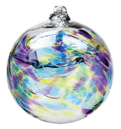 Hand Blown Glass Ornament Globe September by TheDepotLakeviewOhio