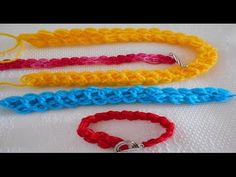 Icord o cordón tubular tejido a crochet Crochet Cord, Crochet 101, Point Lace, Macrame, Diy And Crafts, Knitting, How To Make, Crochet Edging Patterns, Crochet Edgings