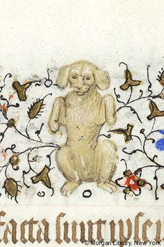 Dog on hind legs | Book of Hours | France, Paris | ca. 1420–1425 | The Morgan Library & Museum