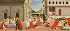 Сцены из жизни святого Зиновия - Три чуда святого Зиновия. Сандро Боттичелли