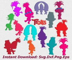 Trolls svg troll svgmovie svg trolls dxf png eps by kArtPrints