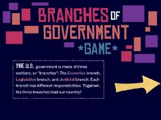Branches of Government Game Lesson Plans and Lesson Ideas ...