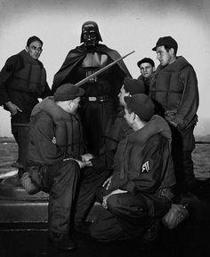 Superheroes in Old War Photos