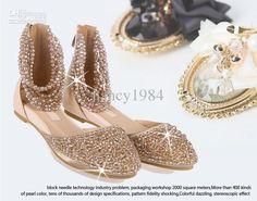Flat Wedding Shoes With Rhinestones | Impian Wedding Trends 2015