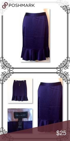 """Plum Color Skirt New with tag // waist to hem 25"""" // size 4 // Side zipper // Outshell 84% acetate and 16% polyester // Lining 100% acetate // non stretch // true to size // The Limited Skirts"""
