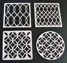Get Silvered Craft: Free Silhouette Cut Patterns// Stencil pattern for bathroom?