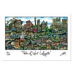 'West Lafayette, IN' by Brian McKelvey Painting Print