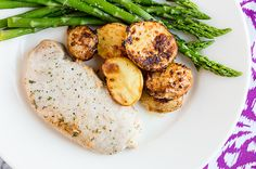 one-pan ranch potates and pork chops