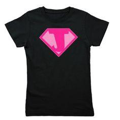 Super Hero Letter J - Girl's Tee