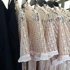 Sheer lace + layering @zara #summernights #lace #layering #blush #ruffle #top #womens #prefall #zara @pixxyapp