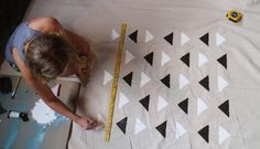 DIY Printed Pattern : DIY Aztec Print Fabric