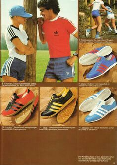 Adidas OG catalogue showing Paris, London, Oslo and Rekord
