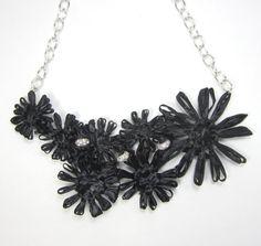 Delilah flower collar necklace.