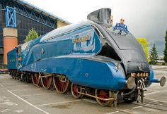 Mallard, the most beautiful train ever -  If you're familiar with blur's Modern Life is Rubbish cover...