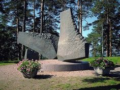 The work is located at the Pispala gate along the road l Finland, Concrete, Northern Lights, Poems, Wings, Memories, Fine Art, Statue, Monuments