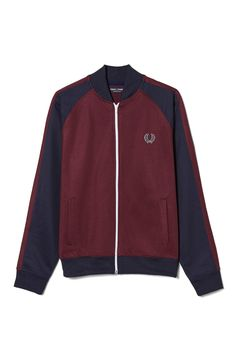 Fred Perry - Sports Authentic Bomber Track Jacket Mahogany