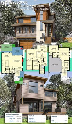 Architectural Designs Contemporary Modern House Plan 23699JD gives you 4 beds and over 2,800 square feet of heated living space. Ready when you are. Where do YOU want to build? #85223MS #adhouseplans #architecturaldesigns #houseplan #architecture #newhome #newconstruction #newhouse #homedesign #dreamhome #dreamhouse #homeplan #architecture #architect #housegoals #modernhouse #modernhome #northwest