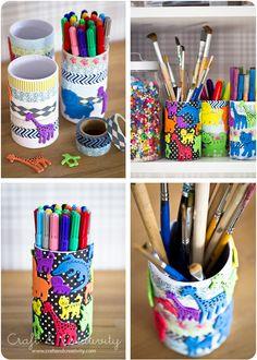 Kid's pen holders - by Craft & Creativity