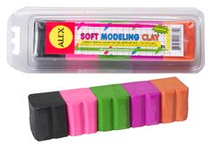 These modelling clay tropical Alex toys never dry out. When you want to save any masterpiece all you need to do is to bake it in an oven. It is very light and therefore it can be used by kids to make water toys since it floats on water. This modelling clay tropical set Alex toys include a modelling tool, black, hot pink, green purple and orange. The Alex toys modelling clay tropical is the perfect toy for your kid's craftsmanship they guarantee fun and promote learning at the same time.