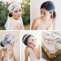 English Rose Collection – Enchanting Bridal Accessories from Erica Elizabeth Designs as seen on Chic Vintage Brides