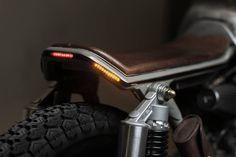Vagabund Moto's Honda CB450 K5 cafe racer LED tail lamps and indicators