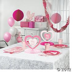 $15 Baby Girl Shower Decorating Kit, Hanging Decorations, Party Decorations, Party Themes & Events - Oriental Trading