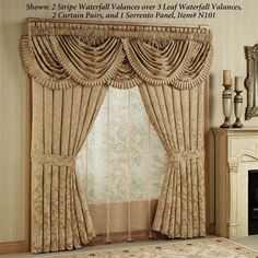 what is the pattern shape for a waterfall valance - Bing Images