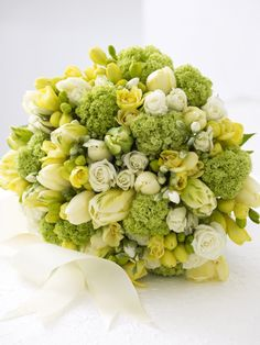 Copy these easy wedding bouquet ideas and coordinating boutonnieres from HGTV. You'll love your diy wedding bouquet so much, you won't want to toss it at your single friends. Wedding Arrangements, Floral Arrangements, Wedding Bouquets, Wedding Flowers, Flower Arrangement, Chartreuse Wedding, Green Wedding, Wedding Flower Design, Wedding Designs