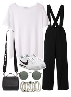 """Sin título #2402"" by alx97 ❤ liked on Polyvore featuring T By Alexander Wang, NIKE, Givenchy, Ray-Ban and H&M"
