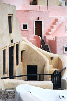 Pastels and Greek Architecture in Santorini, Greece