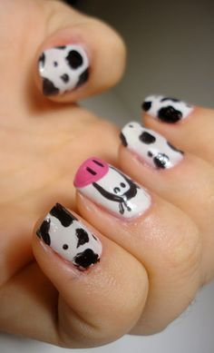 Cute Cow Nails
